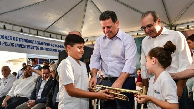 Marconi transfere simbolicamente a capital para Trindade e libera R$ 5 milhões para o município