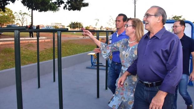 Em parceria com empresários, Jânio inaugura melhorias no Parque Municipal de Trindade