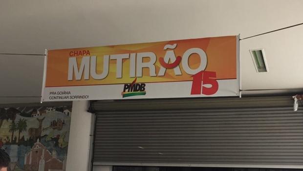 Chapa do PMDB usa marca do mutirão da Prefeitura de Goiânia