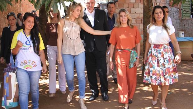 Aleandra Sousa e Valéria Perillo unidas pelo social recepcionam Marcela Temer em Águas Lindas