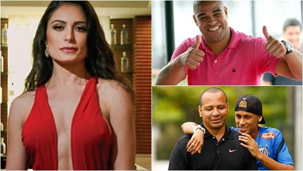 Atriz termina namoro com pai de Neymar e volta a sair com Adriano