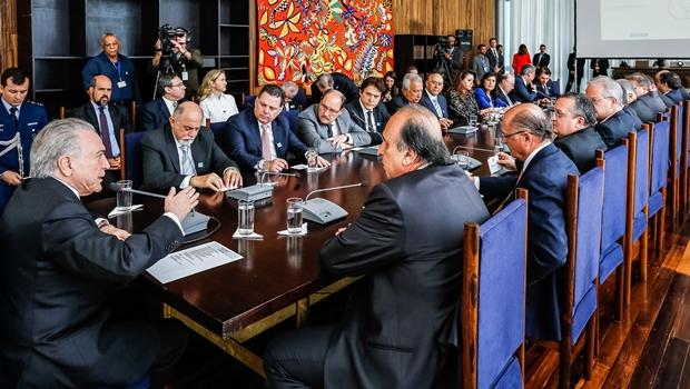 Marconi participa de reunião com Temer para discutir reforma da Previdência