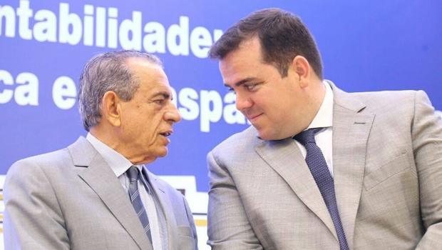 Gustavo Mendanha e Iris Rezende não chegam juntos a evento no Palácio das Esmeraldas
