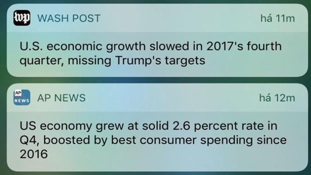 Crescimento da economia americana: um fato e duas versões