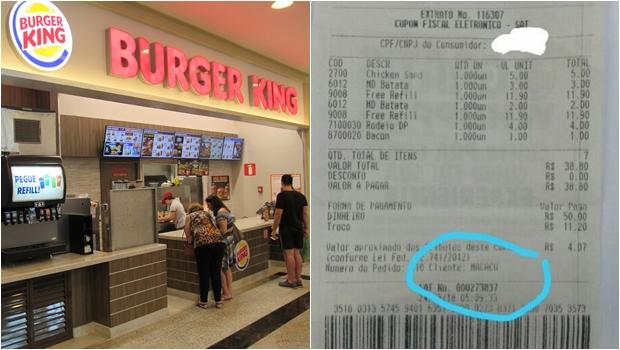 """Jovem denuncia Burger King após ser nomeado de """"macaco"""" em nota fiscal"""