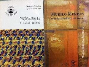 """Reedição de """"Canções a Curitiba"""" (Tasso) e estudo sobre Murilo Mendes"""