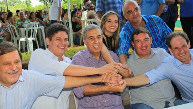 Em Rio Verde, Zé Eliton sela unidade entre Heuler Cruvinel, Lissauer Vieira e Juraci Martins