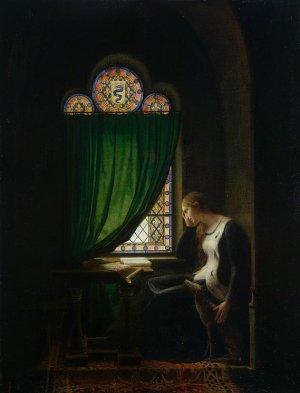 """François-Fleury Richard (1777-1852), """"Valentina de Milão chora a morte de seu marido"""", acervo L´Hérmitage."""
