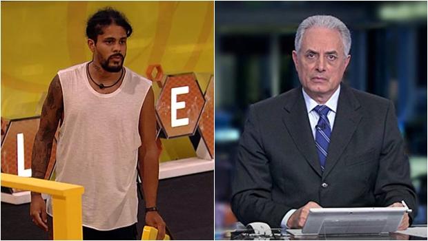 Ao vivo, participante do BBB ironiza TV Globo e manda recado para William Waack