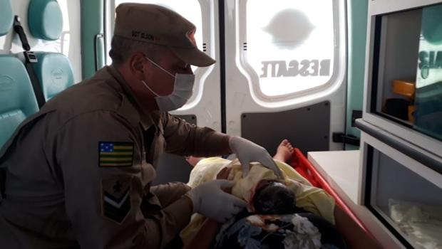 Bombeiros Militares realizam parto de emergência em Jataí