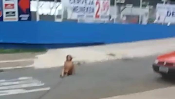 Mulher é flagrada andando nua em avenida de Goiânia
