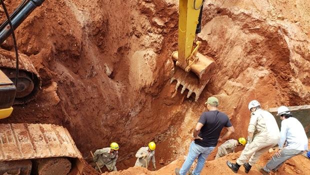 Dois trabalhadores morrem soterrados em obra em Goiânia
