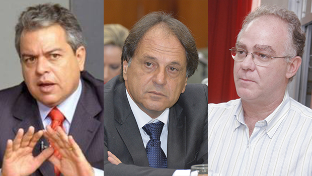 Paulo do Vale, Adib Elias e Ernesto Roller ilustram reunião com Caiado e reforçam apoio