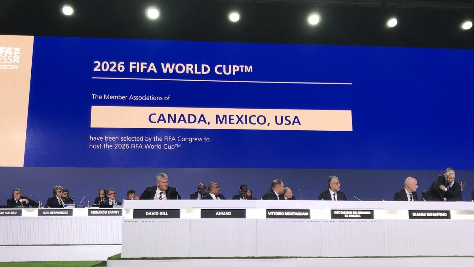 EUA, Canadá e México vão sediar, em conjunto, a Copa do Mundo de 2026