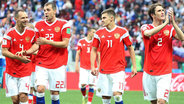 Rússia vence Egito e se torna a primeira a garantir classificação para as oitavas de final