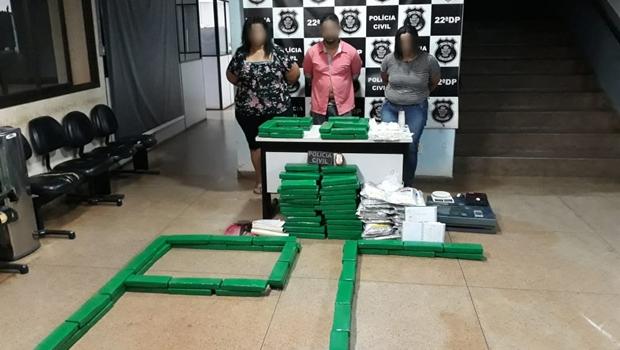 Polícia prende três pessoas em posse de 150 kg de drogas em Goiânia