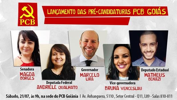 Em Goiás, PCB lança pré-candidato ao governo