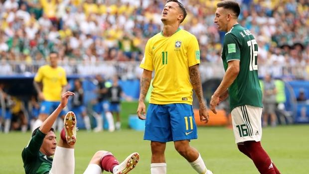 Primeiro tempo entre Brasil e México termina sem gols