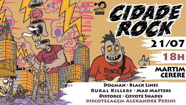 Cidade Rock apresenta seis bandas goianas neste sábado em sua 6ª edição