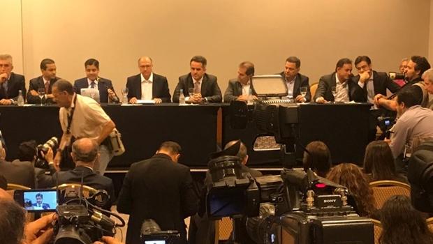 Marconi participa de evento que oficializa apoio do Centrão a Alckmin