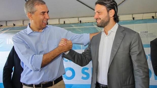 José Eliton e Baldy dão início à obra que ampliará tratamento do esgoto de Goiânia para 90%