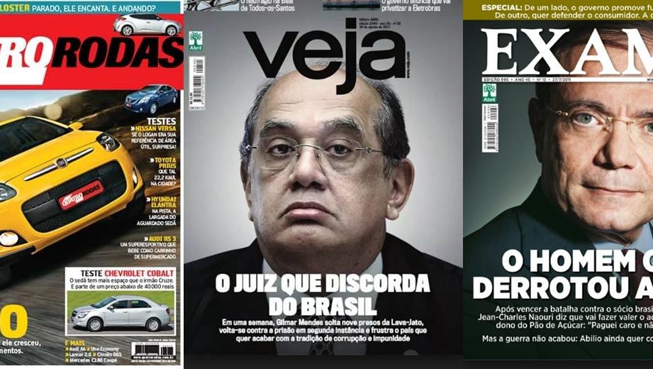 Dois grupos empresariais querem comprar as revistas Veja, Exame e Quatro Rodas
