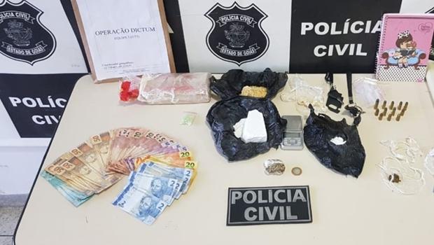 Polícia prende sete pessoas por tráfico de drogas em Goiás