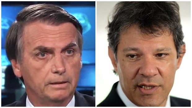 Pesquisa BTG aponta Bolsonaro com 31% e Haddad com 24%