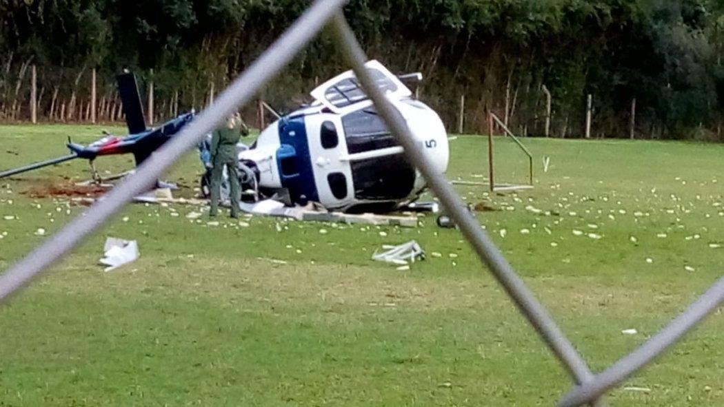 Cai helicóptero com o governador do Espírito Santo