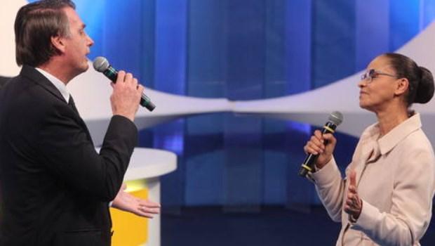 Marina Silva e Bolsonaro se atacam em debate promovido pela RedeTV