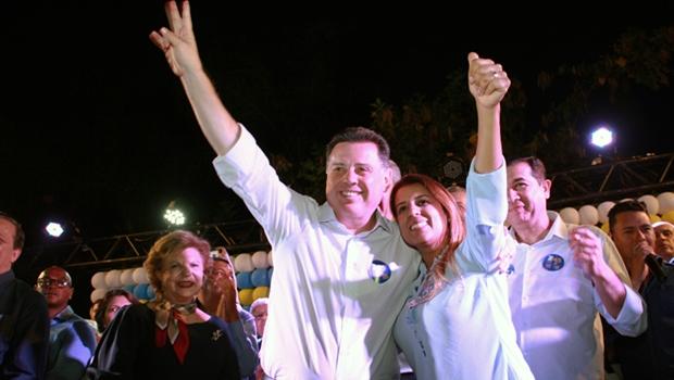 Águas Lindas demonstra força em apoio a Zé Eliton, Marconi e Aleandra Sousa