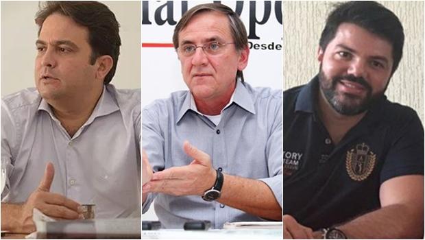 Roberto Naves, Antônio Gomide e Márcio Corrêa devem travar duelo pela Prefeitura de Anápolis