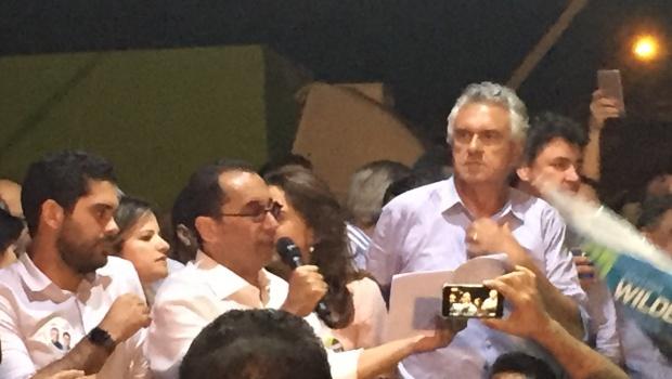 Chapa de Ronaldo Caiado inaugura comitê em Goiânia