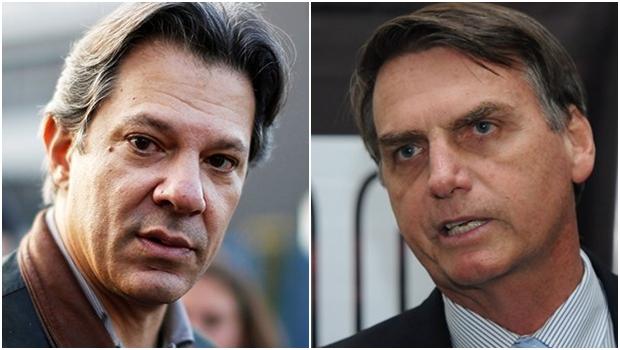 Bolsonaro tem 28% das intenções de voto e Haddad tem 16%, diz Datafolha