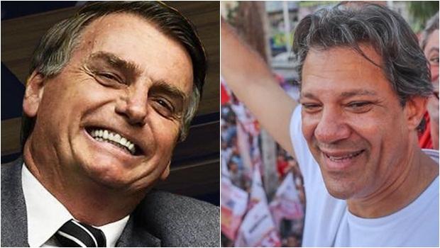 CNT/MDA: Bolsonaro tem 36,7% das intenções de voto e Haddad aparece com 24%