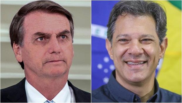 Ibope: Bolsonaro tem 54% dos votos válidos e Haddad 46%