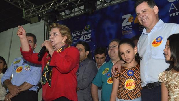 Lúcia Vânia e candidatos a deputado participam de grande ato de apoio a Marconi