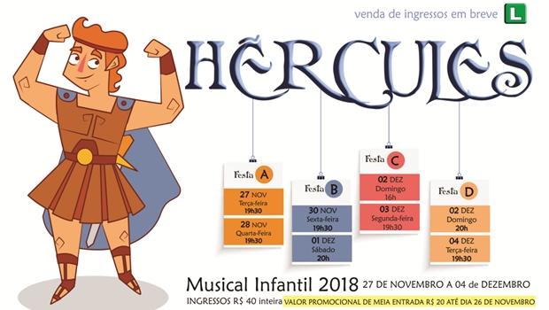 """Alunos de Dança apresentam o balé musical """"Hércules"""""""