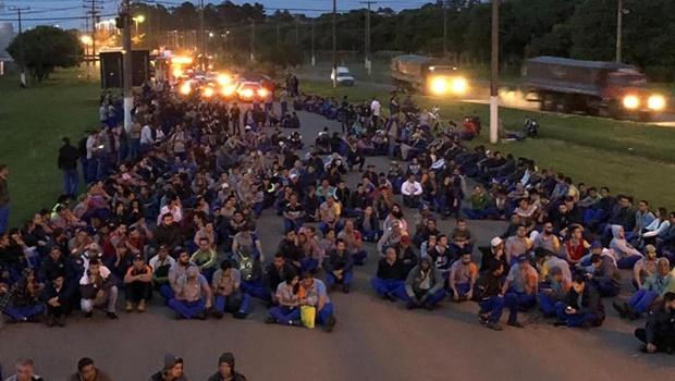 Metalúrgicos protestam em Anápolis contra cortes em incentivos fiscais