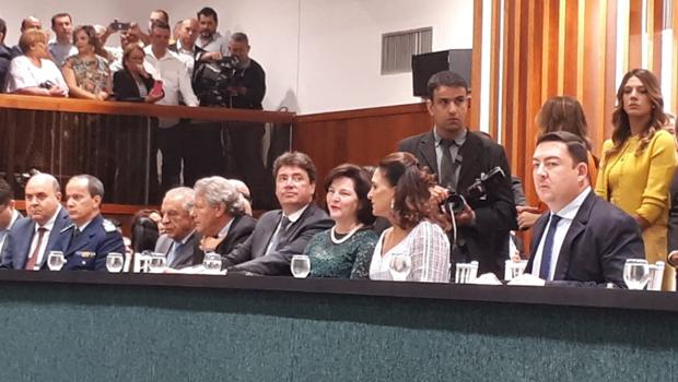 Raquel Dodge participa da posse de Caiado na Assembleia Legislativa de Goiás