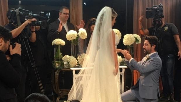 Leonardo falta ao casamento da filha, Jéssica
