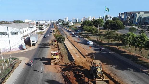 Prefeitura de Anápolis afirma que obra da Avenida Brasil Norte não está parada