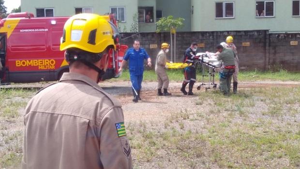 Criança engasgada é resgatada por helicóptero dos Bombeiros em Goiânia