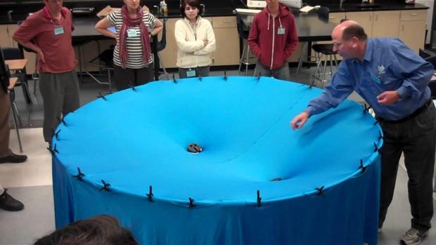 Representação da gravidade de um buraco negro