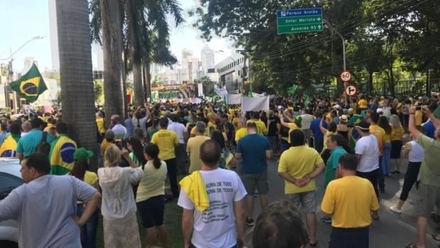 Manifestação de apoio ao Bolsonaro em Goiânia tem público heterogêneo e pautas múltiplas