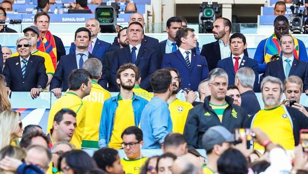 Augusto Heleno Sergio Moro Jair Bolsonaro Crivella e companhia Copa América Maracanã - Foto Fabio Rodrigues Pozzebom Agência Brasil editada