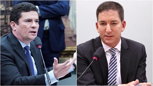 Sergio Moro e Glenn Greenwald - Foto Pablo Valadares e Vinícius Loures Câmara dos Deputados