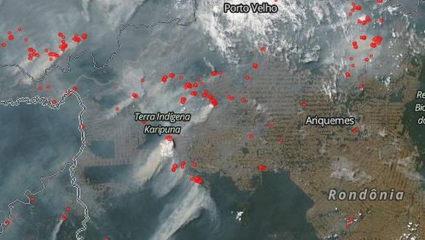 Nasa afirma que focos de incêndio na Amazônia estão relacionados ao desmatamento