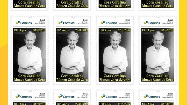 Correios lança selo em homenagem aos 130 anos do nascimento de Cora Coralina