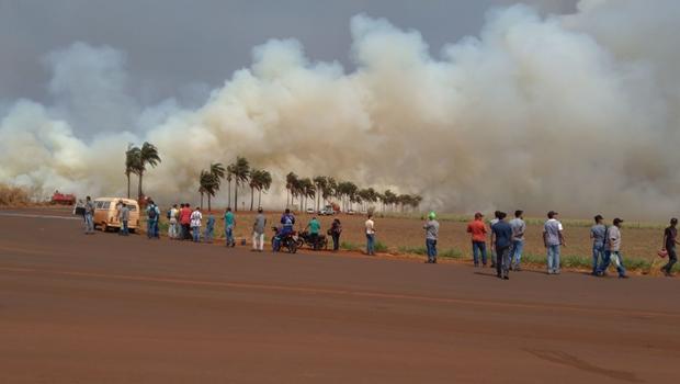 Responsáveis por incêndios serão enquadrados na Lei de Segurança Nacional, diz Caiado